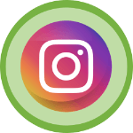 Instagram logo with green background