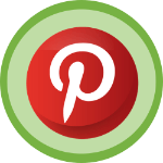 Pinterest logo with green background