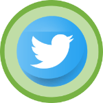 Twitter logo with green background